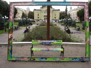 "What's in the frame – the central square in Czernovich, once dubbled ""little Vienna"". Before World War II the town had over 100,000 inhabitants: 26.8% Jews, 23.2% Romanians, 20.8% Germans, 18.6% Ukrainians, the remainder Poles and others.   Foto: inav"