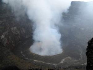 Der Vulkan dampft. Foto: judi