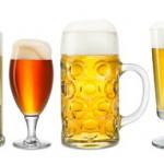 Sammlung verschiedener Biere auf weißem Hintergrund stockphoto-graf - Fotolia
